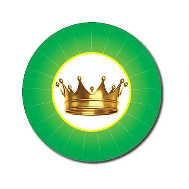 Customised Crown Stickers - Green (70 per sheet - 25mm)