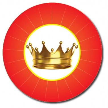 Customised Crown Stickers - Red (70 per sheet - 25mm)