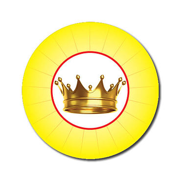 Customised Crown Stickers - Yellow (70 per sheet - 25mm)