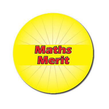 Personalised Maths Merit Stickers - Yellow (70 per sheet - 25mm)