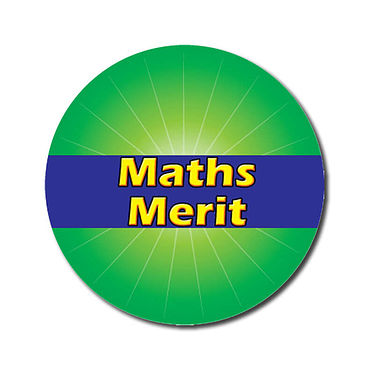 Customised Maths Merit Stickers - Green (70 per sheet - 25mm)