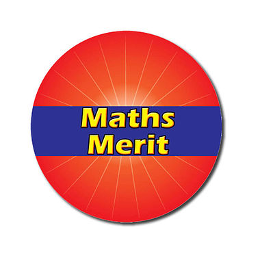 Customised Maths Merit Stickers - Red (70 per sheet - 25mm)