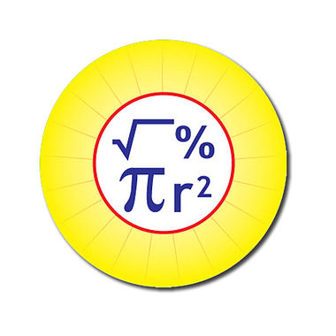 Customised Maths Stickers - Yellow (70 per sheet - 25mm)