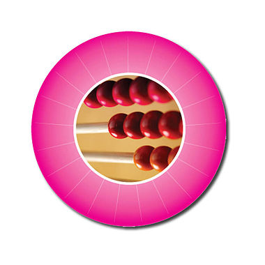 Personalised Abacus Stickers - Pink (70 per sheet - 25mm)