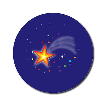 Personalised Shooting Star Stickers (70 per sheet - 25mm)