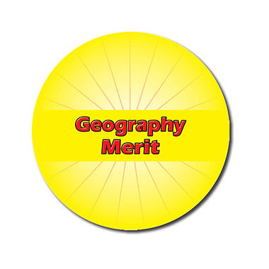 Customised Geography Merit Stickers - Yellow (70 per sheet - 25mm)