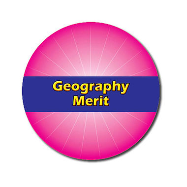 Personalised Geography Merit Stickers - Pink (70 per sheet - 25mm)