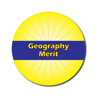 Personalised Geography Merit Stickers - Yellow (70 per sheet - 25mm)