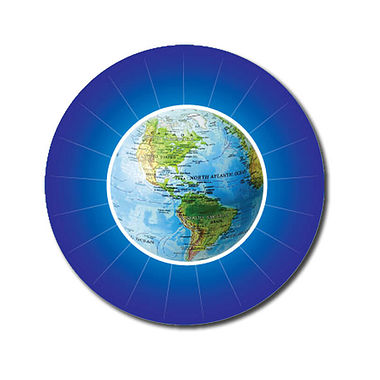 Personalised Globe Stickers - Blue (70 per sheet - 25mm)