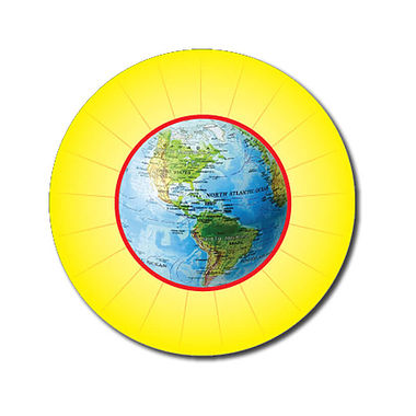 Personalised Globe Stickers - Yellow (70 per sheet - 25mm)