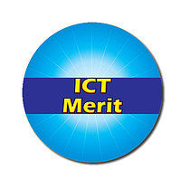 Personalised Cyan ICT Merit Strip 25mm Stickers x 70