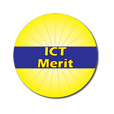 Customised ICT Merit Stickers - Yellow (70 per sheet - 25mm)