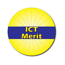 Personalised Yellow ICT Merit Strip 25mm Stickers x 70