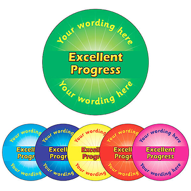 Customised Excellent Progress Stickers (70 per sheet - 25mm)