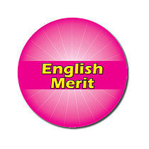 Personalised Pink 25mm English Merit Stickers x 70