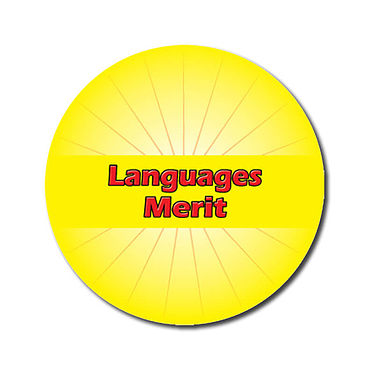 Customised Languages Merit Sticker - Yellow (70 per sheet - 25mm)