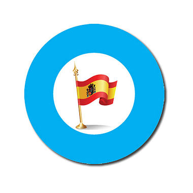 Customised Spanish Flag Stickers - Cyan (70 per sheet - 25mm)