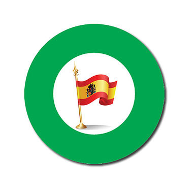Customised Spanish Flag Stickers - Green (70 per sheet - 25mm)