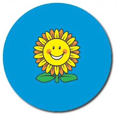 Personalised Sunflower Stickers (35 per sheet - 37mm)