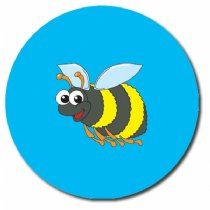 Sheet of 35 Personalised 37mm Bee Stickers