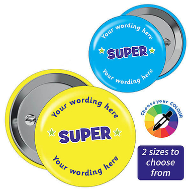 Personalised Super Badges (10 Badges)