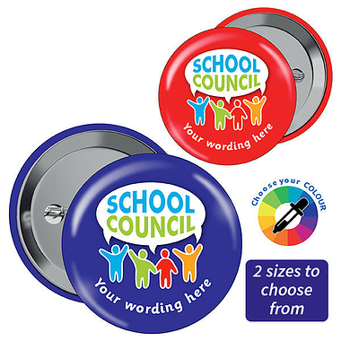 Customised School Council Badges (10 Badges)