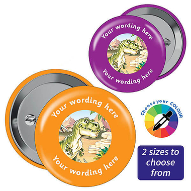 Personalised T-Rex Badges (10 Badges)