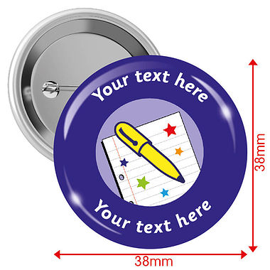 Customised Pen Licence Badges (10 Badges - 38mm)