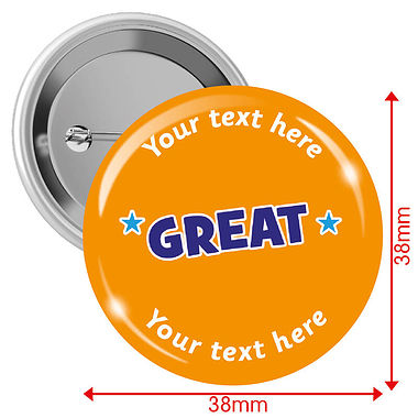 Personalised Great Badges (10 Badges - 38mm)