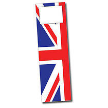 Set of 8 Personalised Union Flag 59mm x 210mm Card Bookmarks
