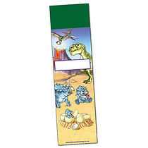 Set of 8 Plain Personalised Dinosaur 59mm x 210mm Bookmarks