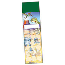 Set of 8 Personalised Dinosaur 59mm x 210mm Card Bookmarks