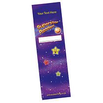 Set of 8 Personalised Superstar 59mm x 210mm Card Bookmarks