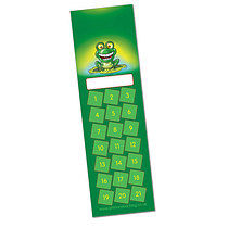 Set of 8 Personalised Frog 59mm x 210mm Card Bookmarks