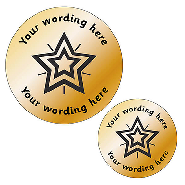 Personalised Metallic Bronze Star Stickers