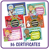 Pedagogs Mixed Pack of 36 A5 EYFS Certificates