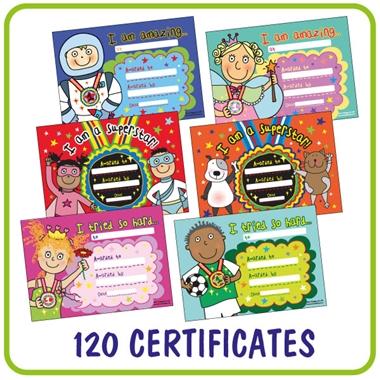 Pedagogs Mixed Pack of 120 A5 EYFS Certificates
