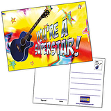 You're a Superstar Postcards - Guitar (20 Postcards - A6)