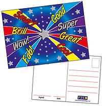 Positive Blue Metallic A6 Postcards x 20
