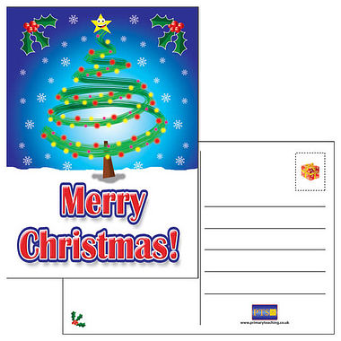 Pack of 20 Merry Christmas A6 Postcards Home