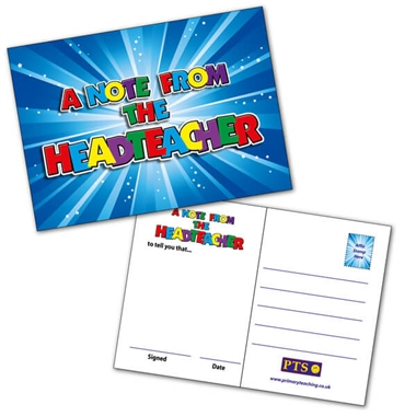 A Note from the Headteacher Postcard (20 Postcards - A6)