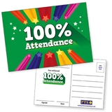 100% Attendance Postcards Home (20 Postcards - A6)