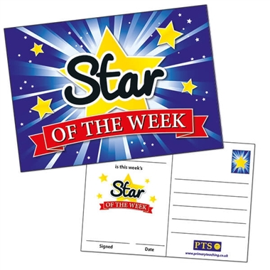 Star of the Week Postcards - Blue (20 Postcards - A6)
