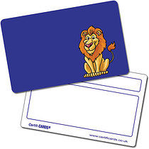 Personalised Plastic Lion Certificard