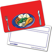 Personalised Plastic Lunchtime Certificard