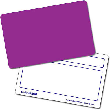 Personalised Blank Plastic Certificard - Purple (86mm x 54mm)