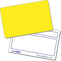 Personalised Plastic Yellow Certificard