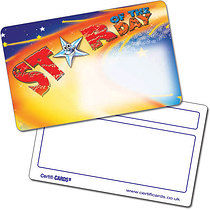 Personalised Plastic Star of the Day Certificard