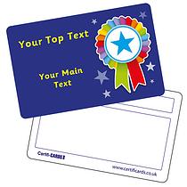 Personalised Plastic Rosette Certificard