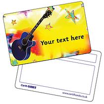 Personalised Plastic Guitar Certificard